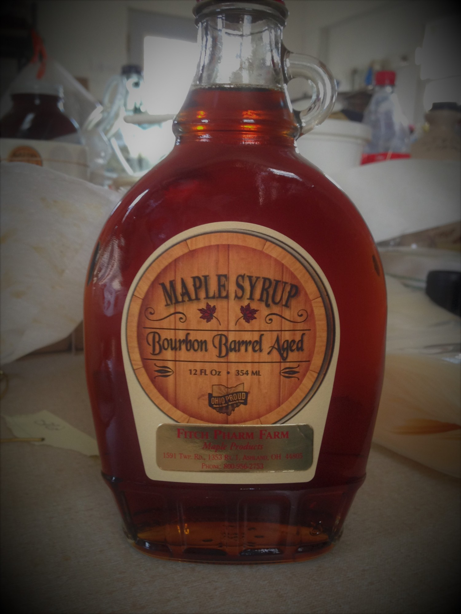 Bourbon Flavored Barrel Aged Maple Syrup