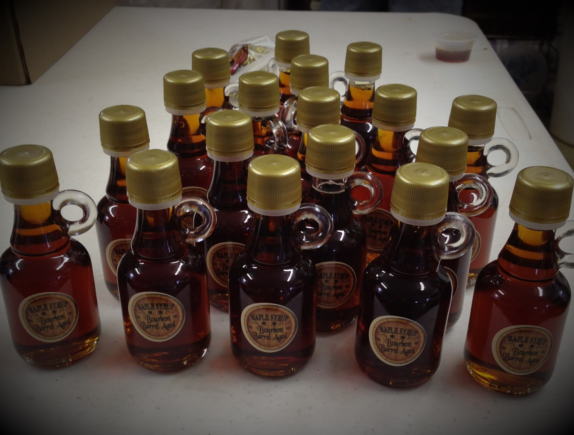 Bourbon Flavored Barrel Aged Maple Syrup 40 mL