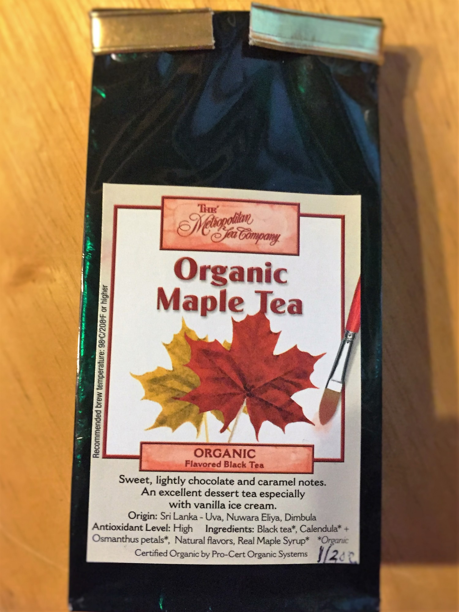 Organic Maple Tea Loose leaf 0.5 Ounce