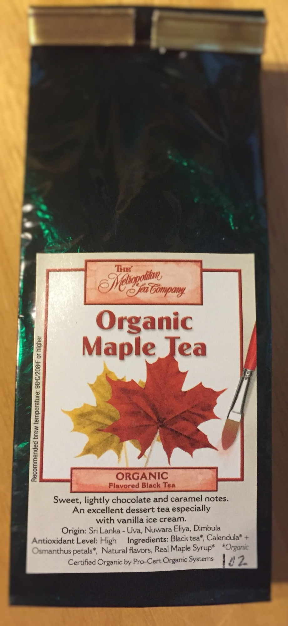 Organic Maple Tea Loose leaf 1 Ounce